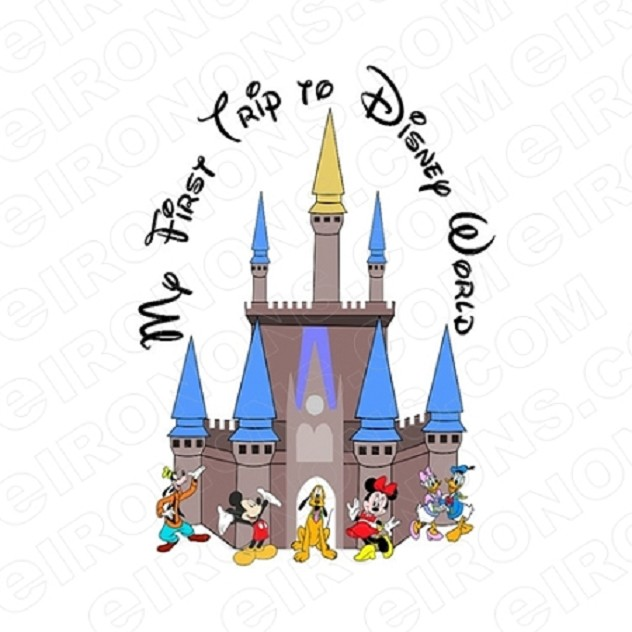 MY FIRST TRIP TO DISNEY WORLD DISNEY VACATION T-SHIRT IRON-ON TRANSFER DECAL DV2