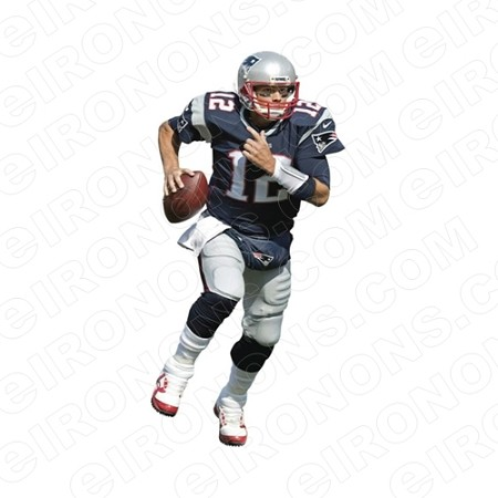 NEW ENGLAND PATRIOTS TOM BRADY SPORTS NFL FOOTBALL T-SHIRT IRON-ON TRANSFER DECAL #NEP2