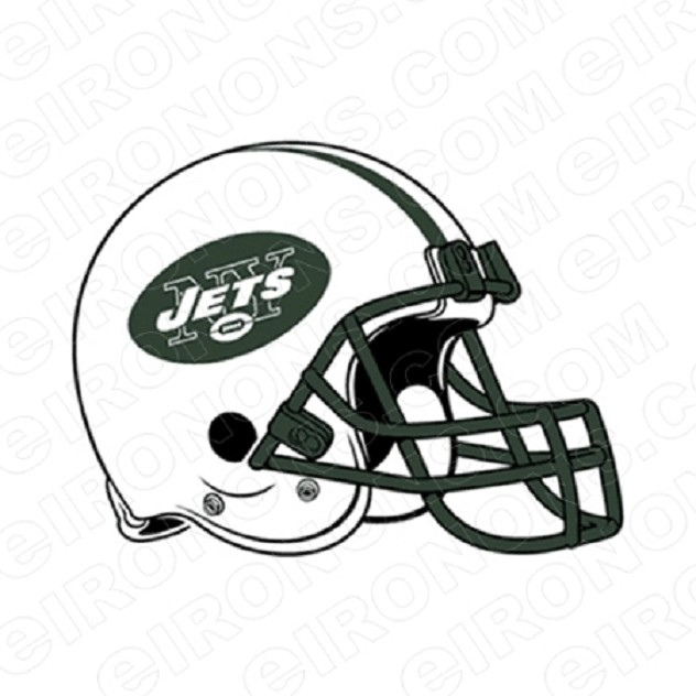 NEW YORK JETS HELMET LOGO SPORTS NFL FOOTBALL T-SHIRT IRON-ON TRANSFER DECAL #SFNYJ1