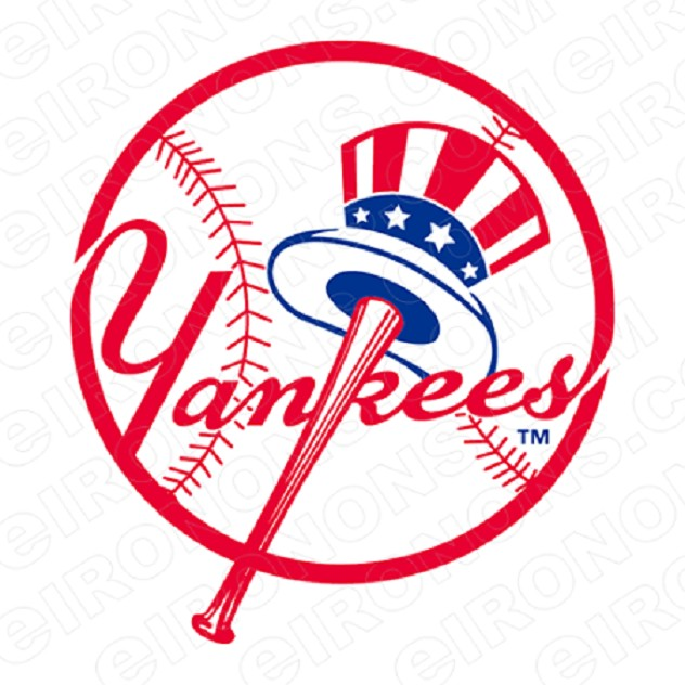 NEW YORK YANKEES PRIMARY LOGO 1968-PRESENT SPORTS MLB BASEBALL T-SHIRT IRON-ON TRANSFER DECAL #SBBNYY4
