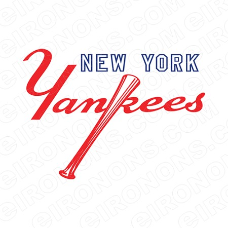 NEW YORK YANKEES SECONDARY LOGO 1973-PRESENT SPORTS MLB BASEBALL T-SHIRT IRON-ON TRANSFER DECAL #SBBNYY5