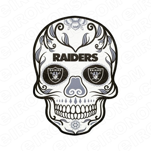OAKLAND RAIDERS SKULL LOGO SPORTS NFL FOOTBALL T-SHIRT IRON-ON TRANSFER DECAL #SFOR6