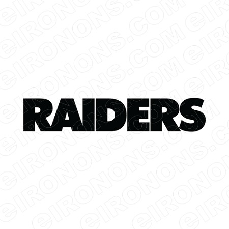 OAKLAND RAIDERS WORDMARK LOGO BLACK SPORTS NFL FOOTBALL T-SHIRT IRON-ON  TRANSFER DECAL 9c88ae71b05a