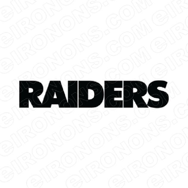 OAKLAND RAIDERS WORDMARK LOGO BLACK SPORTS NFL FOOTBALL T-SHIRT IRON-ON TRANSFER DECAL #SFOR6