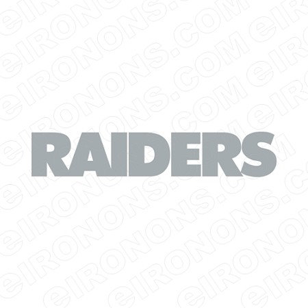 OAKLAND RAIDERS WORDMARK LOGO SILVER SPORTS NFL FOOTBALL T-SHIRT IRON-ON TRANSFER DECAL #SFOR7