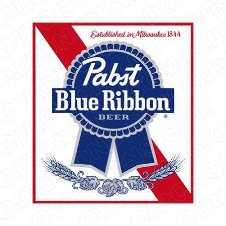 PABST BLUE RIBBON BEER LOGO ALCOHOL T-SHIRT IRON-ON TRANSFER DECAL #APBR2
