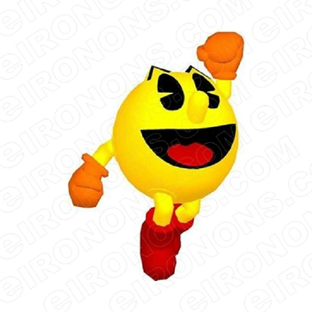 PAC-MAN JUMP VIDEO GAME T-SHIRT IRON-ON TRANSFER DECAL #VPM3