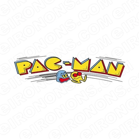 PAC-MAN LOGO VIDEO GAME T-SHIRT IRON-ON TRANSFER DECAL #VPM4