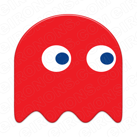 PAC-MAN RED GHOST VIDEO GAME T-SHIRT IRON-ON TRANSFER DECAL #VPM7
