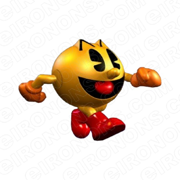 PAC-MAN WALKING VIDEO GAME T-SHIRT IRON-ON TRANSFER DECAL #VPM9