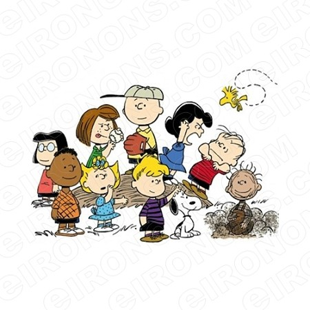 PEANUTS GROUP POSE 2 TV T-SHIRT IRON-ON TRANSFER DECAL #TVP6