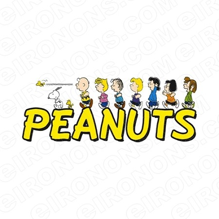 PEANUTS GROUP POSE ON LOGO TV T-SHIRT IRON-ON TRANSFER DECAL #TVP3