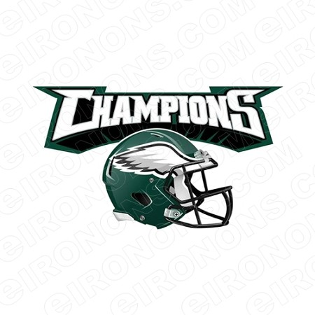 low priced a5cfb 3df38 PHILADELPHIA EAGLES SUPER BOWL CHAMPIONS HELMET LOGO SPORTS NFL FOOTBALL  T-SHIRT IRON-ON TRANSFER DECAL #SFPE4