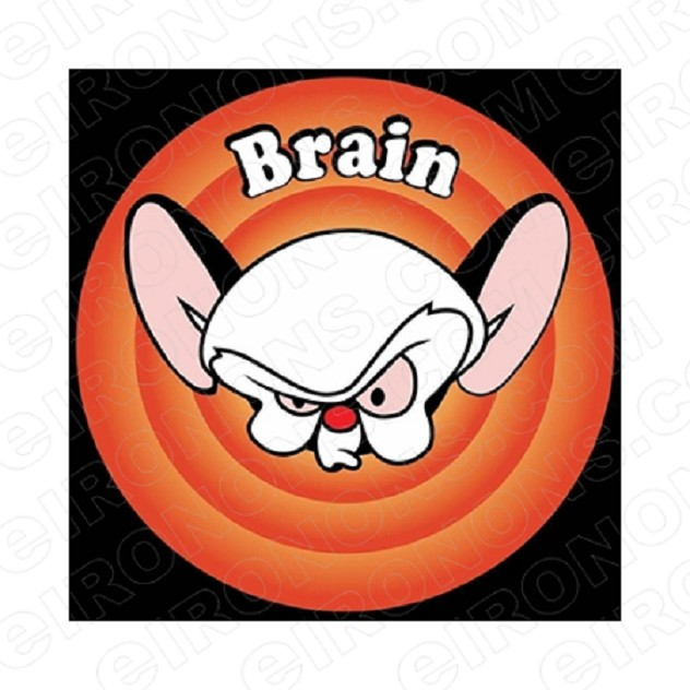 PINKY AND THE BRAIN BRAIN CHARACTER T-SHIRT IRON-ON TRANSFER DECAL #CPATB1