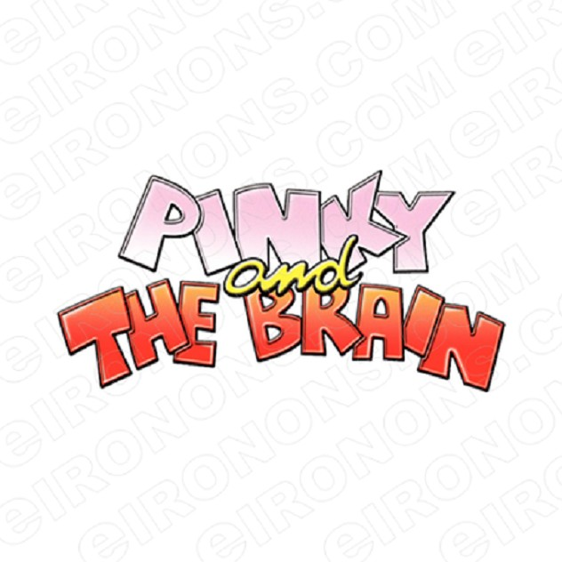 PINKY AND THE BRAIN LOGO CHARACTER T-SHIRT IRON-ON TRANSFER DECAL #CPATB3