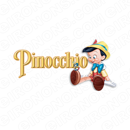 PINOCCHIO AND LOGO CHARACTER T-SHIRT IRON-ON TRANSFER DECAL #CP3