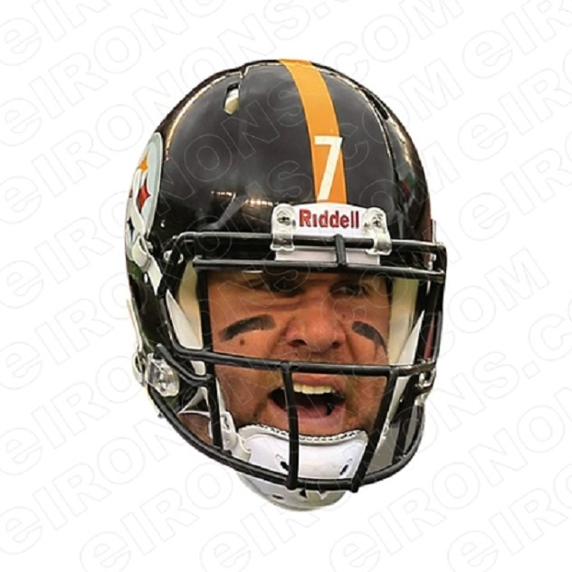 PITTSBURGH STEELERS BEN ROETHLISBERGER GAME DAY BIG HEAD SPORTS NFL FOOTBALL T-SHIRT IRON-ON TRANSFER DECAL #PS1