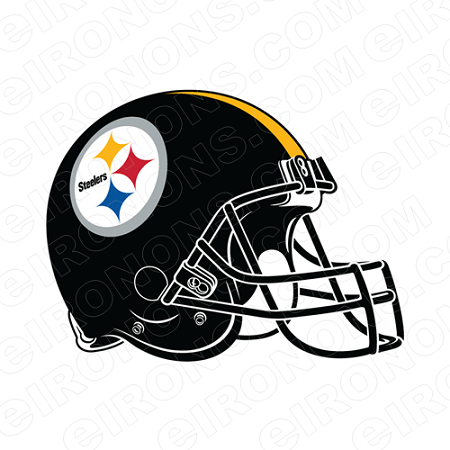 PITTSBURGH STEELERS HELMET LOGO SPORTS NFL FOOTBALL T-SHIRT IRON-ON TRANSFER DECAL #SFPS1