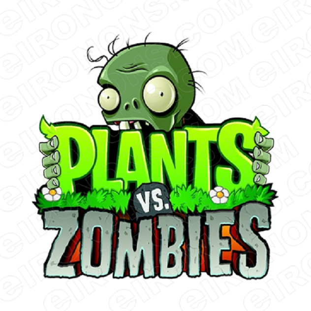 PLANTS VS ZOMBIES LOGO VIDEO GAME T-SHIRT IRON-ON TRANSFER DECAL #VGPVZ1