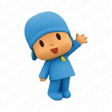 POCOYO WAVING CHARACTER T-SHIRT IRON-ON TRANSFER DECAL #CP21