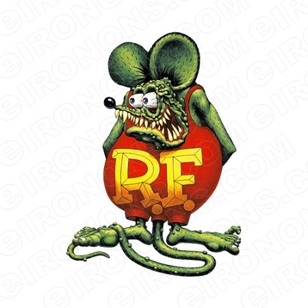 RAT FINK STANDING CHARACTER T-SHIRT IRON-ON TRANSFER DECAL #CRF3
