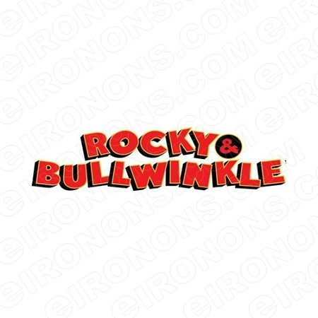 ROCKY & BULLWINKLE LOGO CHARACTER T-SHIRT IRON-ON TRANSFER DECAL #CRAB3