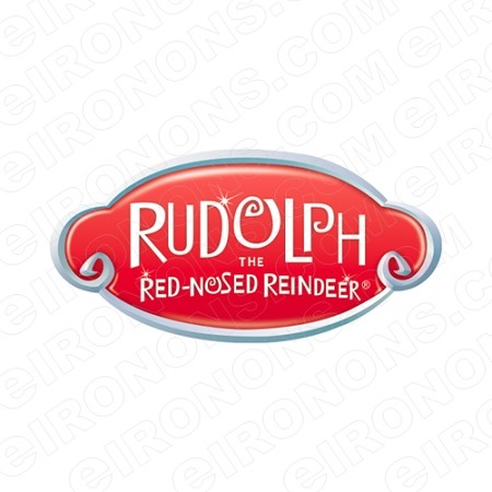 RUDOLPH THE RED NOSED REINDEER LOGO CHRISTMAS HOLIDAY T-SHIRT IRON-ON TRANSFER DECAL #HR7