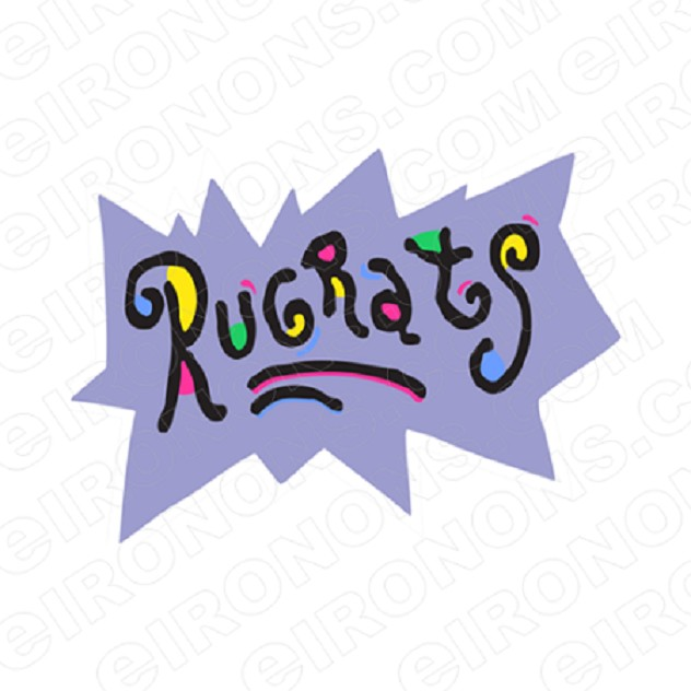 RUGRATS LOGO CHARACTER T-SHIRT IRON-ON TRANSFER DECAL #CRR11