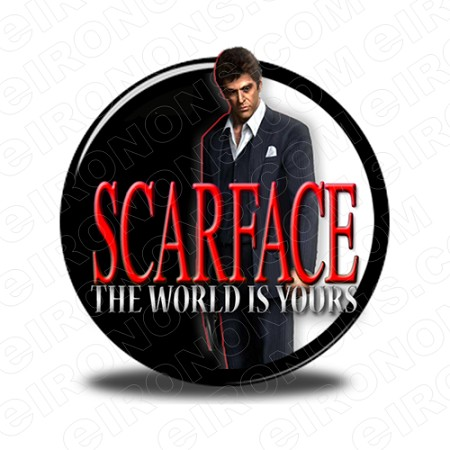 SCARFACE THE WORLD IS YOURS AL PACINO TONY MONTANA MOVIE T-SHIRT IRON-ON TRANSFER DECAL #MSF5