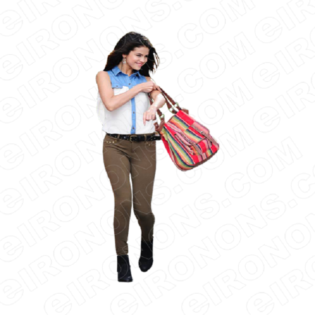 SELENA GOMEZ HOLDING BAG MUSIC T-SHIRT IRON-ON TRANSFER DECAL #MSG4