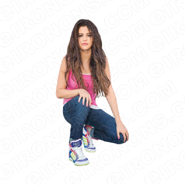 SELENA GOMEZ SQUATING MUSIC T-SHIRT IRON-ON TRANSFER DECAL #MSG10