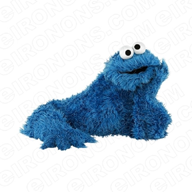 SESAME STREET COOKIE MONSTER THINKING TV T-SHIRT IRON-ON TRANSFER DECAL #TVSS11