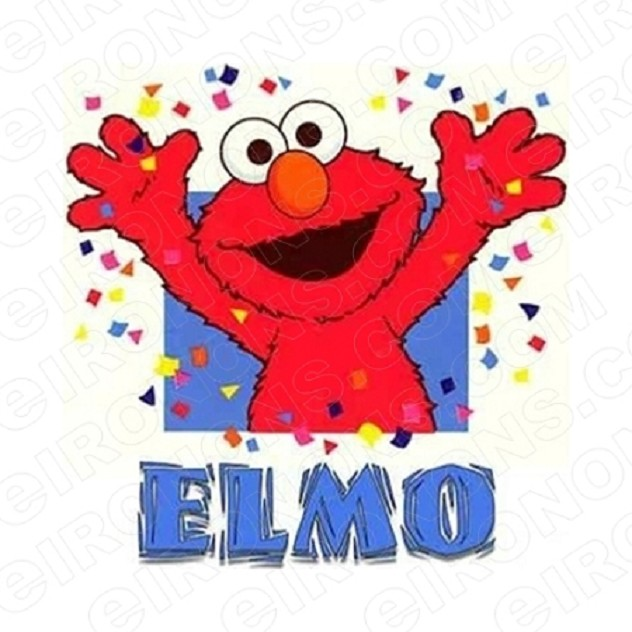 SESAME STREET ELMO PARTY TV T-SHIRT IRON-ON TRANSFER DECAL #TVSS23