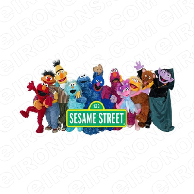 SESAME STREET GROUP POSE 2 TV T-SHIRT IRON-ON TRANSFER DECAL #TVSS13