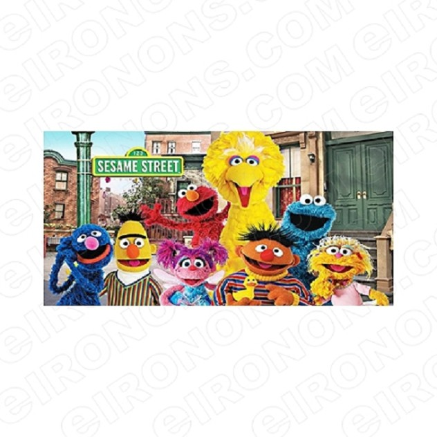 SESAME STREET GROUP POSE 4 TV T-SHIRT IRON-ON TRANSFER DECAL #TVSS31