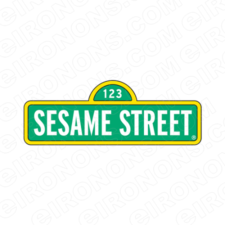 SESAME STREET LOGO TV T-SHIRT IRON-ON TRANSFER DECAL #TVSS1