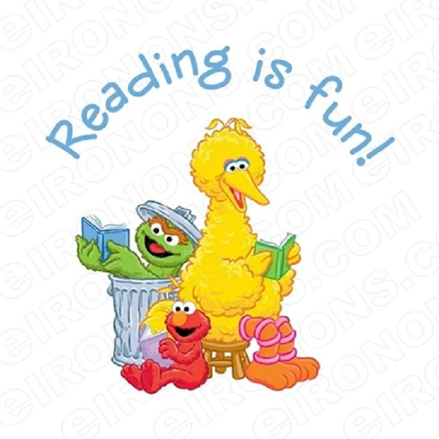 SESAME STREET READING IS FUN TV T-SHIRT IRON-ON TRANSFER DECAL #TVSS35