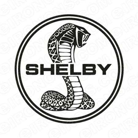 SHELBY LOGO AUTO T-SHIRT IRON-ON TRANSFER DECAL #AS1