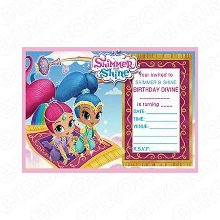 SHIMMER AND SHINE BLANK EDITABLE INVITATION INSTANT DOWNLOAD #ISAS4
