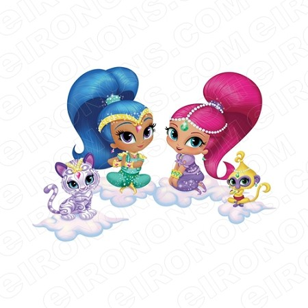 SHIMMER AND SHINE GROUP POSE CHARACTER T-SHIRT IRON-ON TRANSFER DECAL #CSAS4