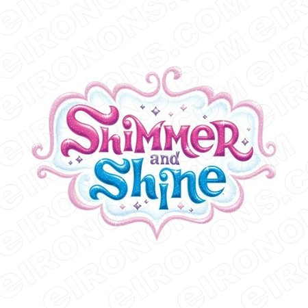 SHIMMER AND SHINE LOGO CHARACTER T-SHIRT IRON-ON TRANSFER DECAL #CSAS6