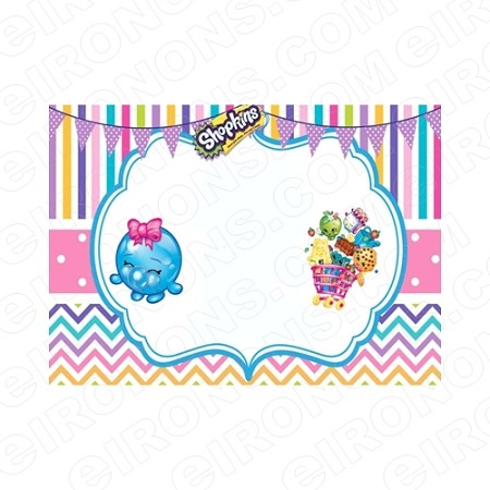 SHOPKINS BLANK EDITABLE INVITATION INSTANT DOWNLOAD #IS5