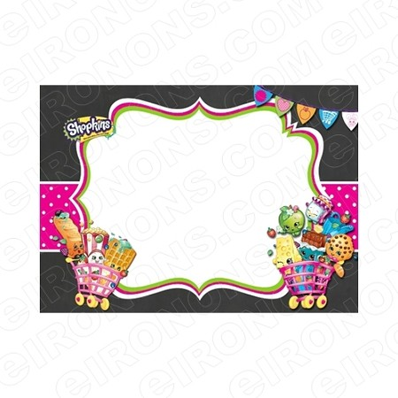 SHOPKINS BLANK EDITABLE INVITATION INSTANT DOWNLOAD #IS8