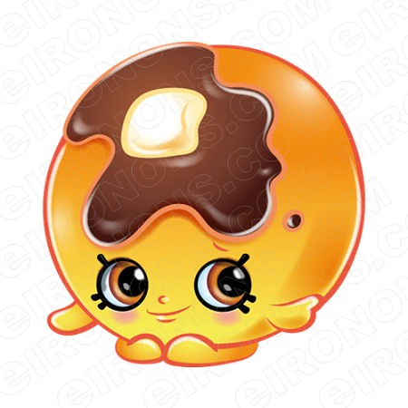 SHOPKINS PANCAKE JAKE CHARACTER T-SHIRT IRON-ON TRANSFER DECAL #CSK5