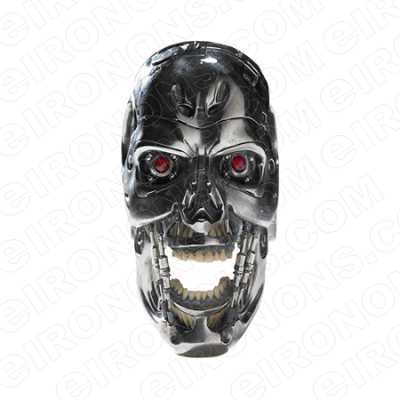SKULL TERMINATOR T-SHIRT IRON-ON TRANSFER DECAL #S27