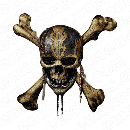 SKULL POTC T-SHIRT IRON-ON TRANSFER DECAL #S16
