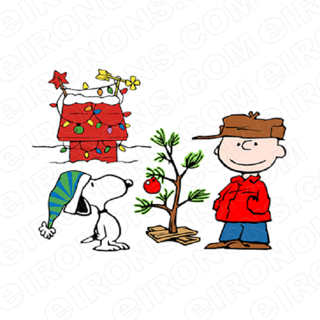 SNOOPY AND CHARLIE BROWN CHRISTMAS HOLIDAY T-SHIRT IRON-ON TRANSFER DECAL #HC25