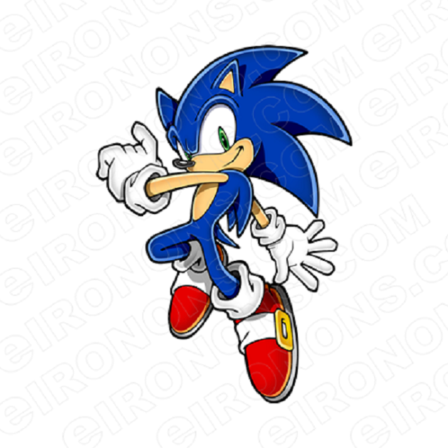 Sonic The Hedgehog Hands Out Video Game Character T Shirt Iron On Transfer Your One Stop Iron On Transfer Decal Super Shop Eironons Com