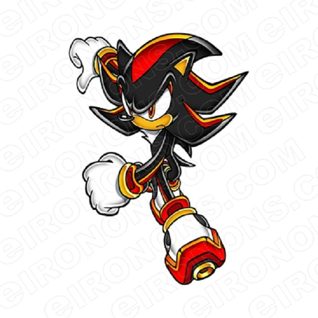 Sonic The Hedgehog Shadow Mad Video Game T Shirt Iron On Transfer Decal Your One Stop Iron On Transfer Decal Super Shop Eironons Com