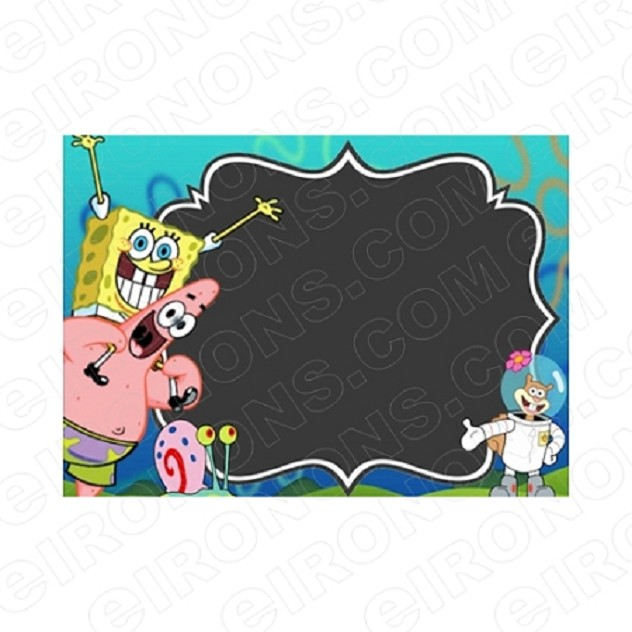 SPONGEBOB SQUAREPANTS BLANK EDITABLE INVITATION INSTANT DOWNLOAD #ISS1